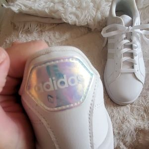 NWT Adidas Neo lace up low cut white sneaker shoes